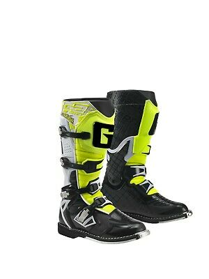 Gaerne React White/Black//Yellow Mx Boots, Enduro, Trail & Off Road Boots
