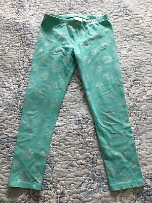 Girls Leggings Size 6X Lot Of 2 Jumping Beans-Blue Green And Carters Stripe Gray