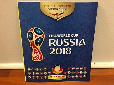 Panini WM 2018 Russia World Cup Sticker Sammelalbum,Leeralbum + 6 Sticker NEU