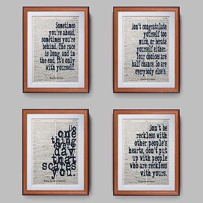 Baz Luhrmann Sunscreen Quote Dictionary Page Quotes Art