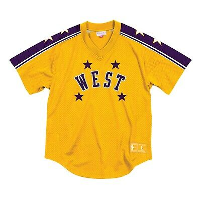 Jerry West 1972 Mesh V-Neck Pullover Jersey NBA All-Star Mitchell & Ness New