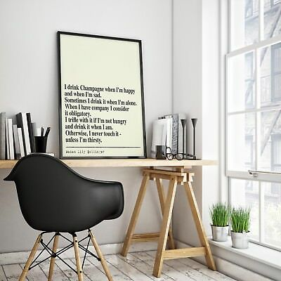 Lilly Bollinger Champagne  quote art print wall art home  gift  motivation