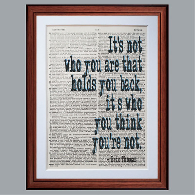 Eric Thomas Quote Dictionary page art print gift literary book quotes