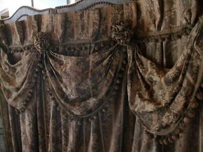 Elaborate Period Regency Drape With Swags  Dated Mid c1880