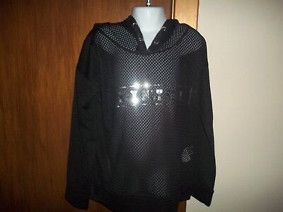 girls black hooded mesh sweatshirt from yd aged 9/10yrs? in v good condition