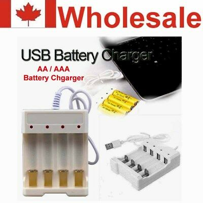 Intelligent 4 Slots 1.2V USB Charger For Rechargeable NiMH NiCd AA/AAA Battery