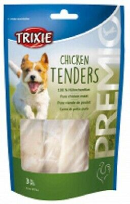 Trixie Premio Chicken Tenders Pure Steamed Meat Dog Treat 75g pack