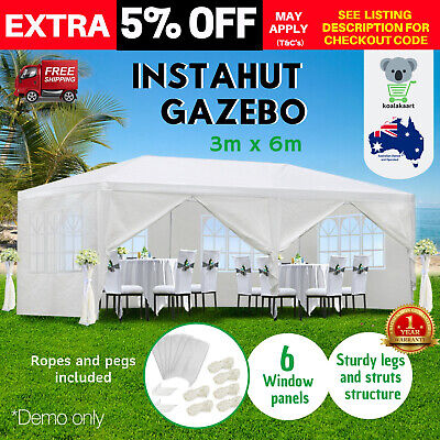Gazebo Instahut Party Wedding Marquee Camping Hut Tent Canopy Event Shade