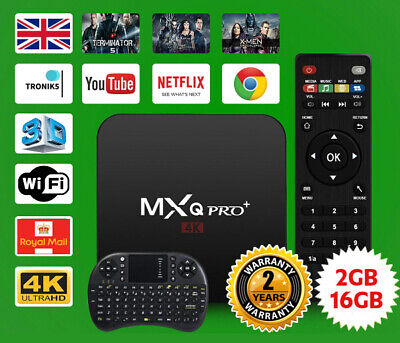 2019 MXQ PRO 4K Android 7.1 Streaming media player 2GB+16GB With Keyboard
