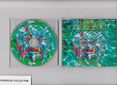 The Mission - Shades Of Green   4 Tr Uk Rare Cdsingle   Incl Sticker