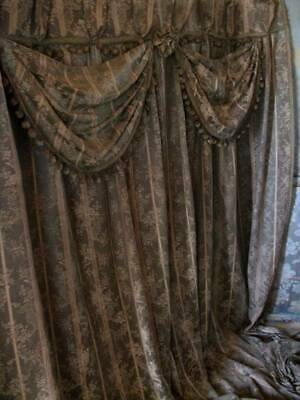 Elaborate Period Regency Drape With Decorative Swags c1880