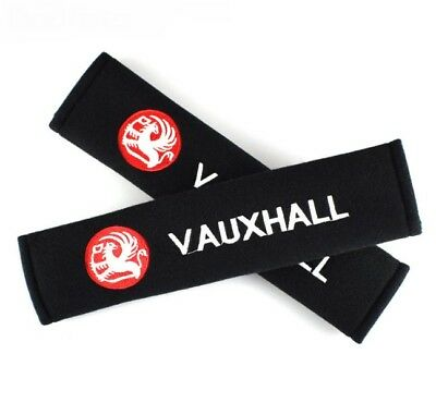 2 piece set Vauxhall Universal Seat belt Shoulder Pads covers Vauxhall