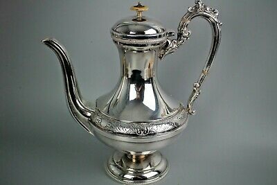 Quality Aesthetic Silver Plated Tea/Coffee Pot On A Pedestal Base