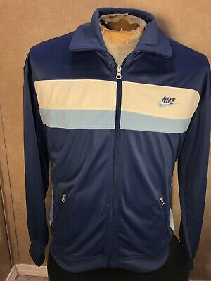 Men's Clothing Transformers Track Zip Up Jacket Coat Mens Sz S 100% Poly White W Blue Activewear