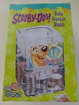 Vintage Scooby Doo Coin Sorter Bank Cartoon Network NIB 2002 free ship