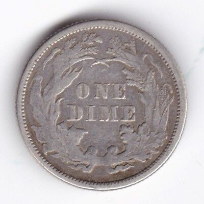 1877 U.S.A. Seated Liberty One Dime   Pennies2Pounds