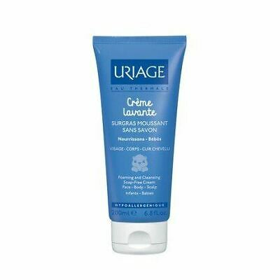 Uriage Foaming And Cleansing Soap-Free Cream for Babies Face/Body/Scal