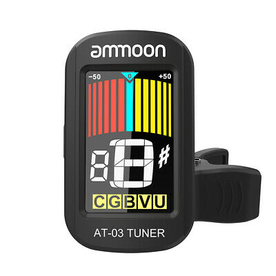 ammoon Clip-on Electric Tuner LCD Screen 360° Rotatable for Guitar Y0T7