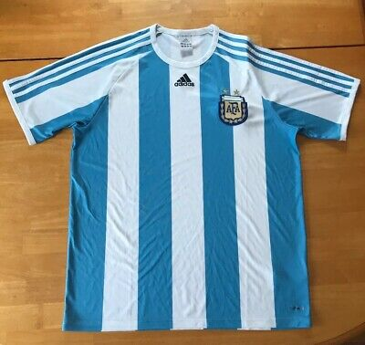 288388c94 ARGENTINA NATIONAL TEAM Adidas Soccer White World Cup Jersey Mens ...