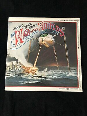 WAR OF THE WORLDS 1ST VINYL PRESS 2LP 1978 White Label PROMO MOODY BLUES EX