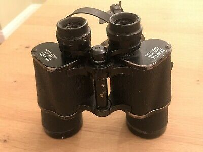 Zenith Binoculars 10 X 50 Mark Scheffel Optics With Leather Vintage Case