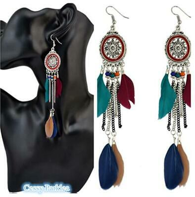 Native American Indian Feather Ladies Costume Pierced Earrings Party Tribal