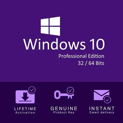 Microsoft Windows 10 Pro Professional 32 /64bit Genuine Product Key License Code