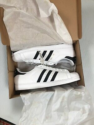 wholesale dealer 7e94e ad7be Adidas Mens Superstar Boost Leather Low Top Lace, White Core Black, Size 19  M