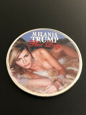 Hot American First Lady Melania Trump Silver Plated Coin , Novelty,USA SELLER