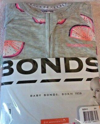 BONDS ZIPPY - Fluro Fruit - Size - 00 - Wondersuit - NWT - Limited Edition !!
