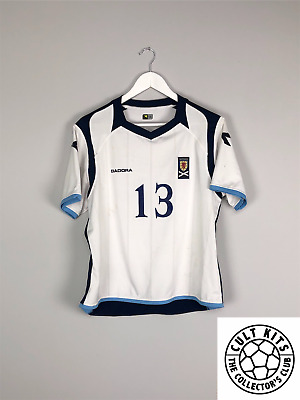SCOTLAND WOMENS #13 08/10 *MATCH WORN* Away Football Shirt (14) Jersey Diadora