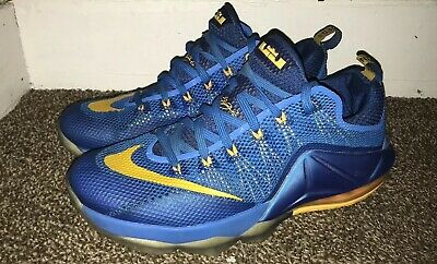 cd3f9f43665b NIKE LEBRON JAMES XII 12 Low Photo Blue University Gold Gym Blue ...