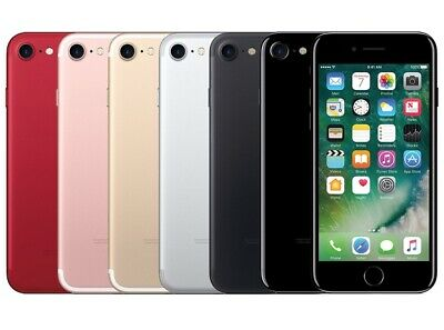 iPhone 7 32GB 128GB 256GB GSM Unlocked Black Gold Jet Black Red Rose Gold Silver
