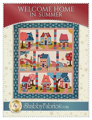 WELCOME HOME IN SUMMER QUILT QUILTING PATTERN, from Shabby Fabrics, NEW