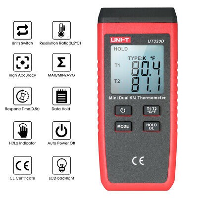 50℃~1300℃ Mini Contact Type Digital K//J Thermocouple Thermometer LCD Display