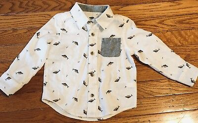 OLD NAVY FLANNEL BUTTON DOWN SHIRT Size 2T - EUC!