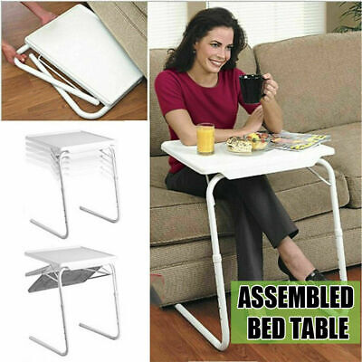 Portable Foldable Laptop Desk Bed Side Table Adjustable Tray Dinner Camping