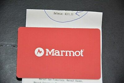 Marmot Outddor Clothing/Gear Giftcard / Mdse Credit $311.11 North Face Patagonia