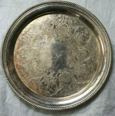 International Silver Co. Castleton Silver plate Tray Platter No. 670 Embellished