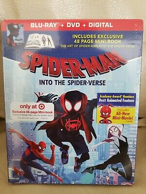 Spider-Man Into The Spider-Verse Target Exclusive Blu-Ray Digital + Book *New*