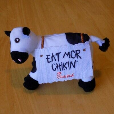 "5/"" Chick-fil-a Plush Cow Doll Toy Eat More Chicken Mor Chikin Advertisement"