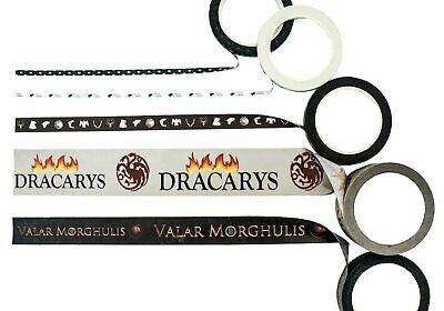 Game Of Thrones Theme Washi Tape, Dracarys, Valar Morghulis Bundle