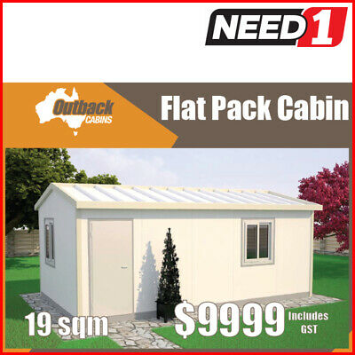Flat Pack Cabin, Kit Home, Granny Flat, Office, Lunch Room, Fully Insulated