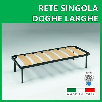 Rete Singola Ortopedica 7 Doghe Larghe 80  X 190 Made In Italy
