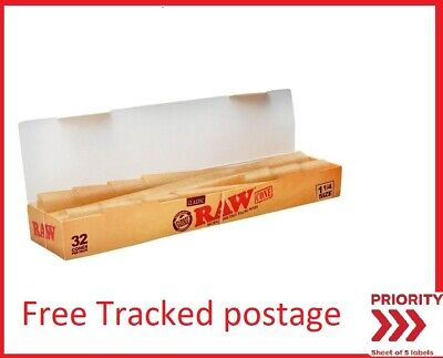 32 pcs Bulk Buy Raw Classic Pre-rolled 1 1/4 Cones  (Free Tracked Shipping)