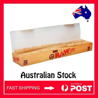 32 pcs Bulk Buy Raw Classic Pre-rolled kingsize Cones (Free Tracked Shipping)