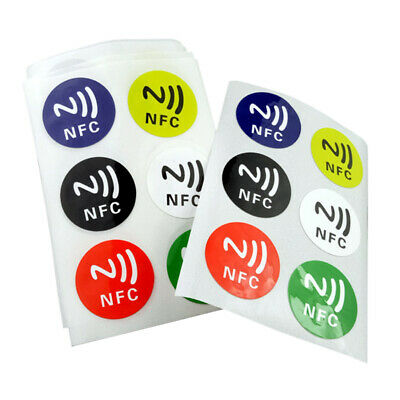 6pcs Round RF Card Smart Tag NFC Stickers Waterproof 13.56MHz Ntag 213 Chip