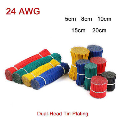 24 AWG Breadboard Jumper Wire Dual-Head Tin Plating Welde Cable Electronic Line