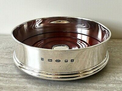 """Hallmark Silver Classic 5"""" Wine Coaster by Hersey & Sons London – Boxed"""