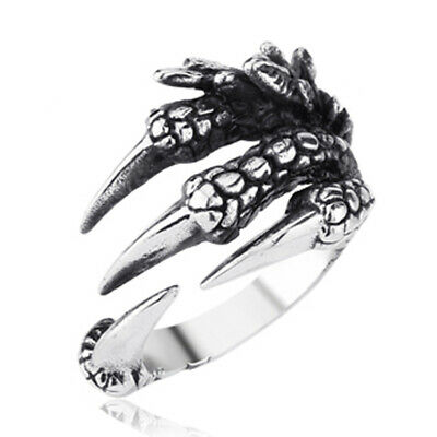 Game of Thrones 8 Dragon Claw Alloy Ring Cover Open Cosplay Prop Mens Gifts
